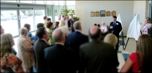 Photo of group attending Lab Building Dedication