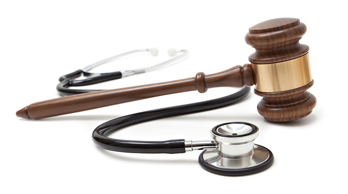 Image of gavel and stethescope