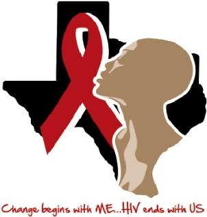 Texas Black Women's Inititative Logo: Change begins with me...HIV ends with US