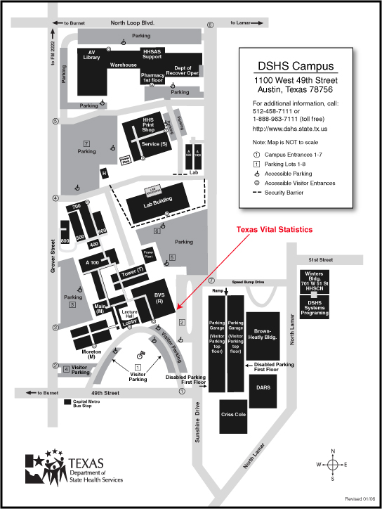 Map of the DSHS Campus