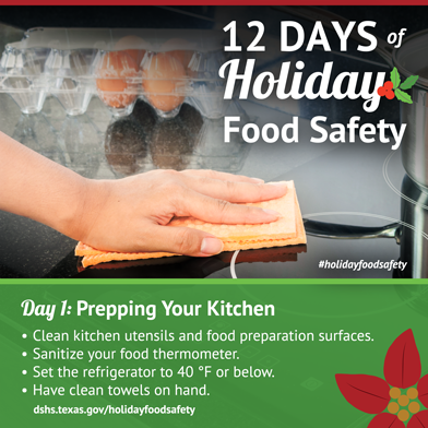 12 Days of Holiday Food Safety - Day 1, Prepping your Kitchen