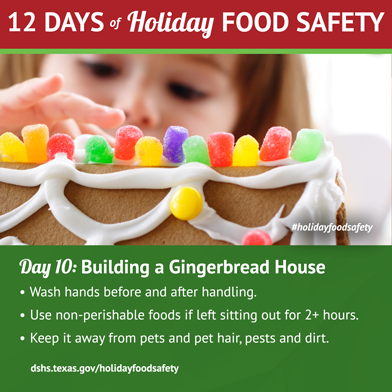 12 Days of Holiday Food Safety - Day 10, Building a Gingerbread House