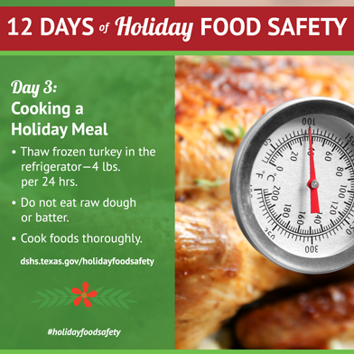 12 Days of Holiday Food Safety - Day 3, Cooking a Holiday Meal