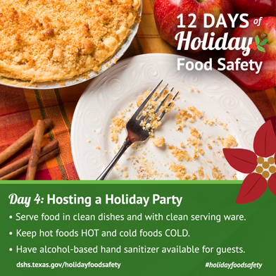 12 Days of Holiday Food Safety - Day 4, Hosting a Holiday Party