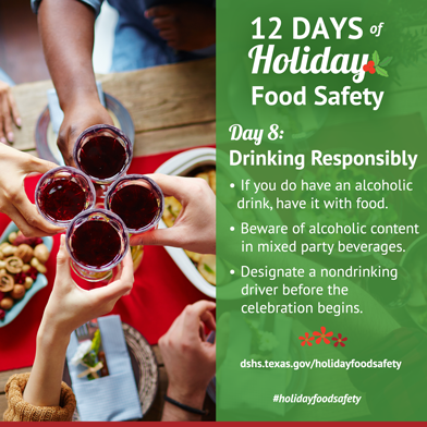 12 Days of Holiday Food Safety - Day 8, Drinking Responsibly