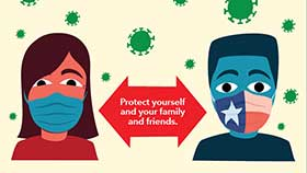 thumbnail of Face Coverings Protect Others - English