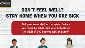 thumbnail of School Setting: Don't Feel Well? - English