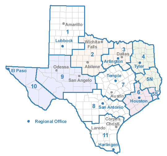 Houston And Dallas Map.Case Management Providers