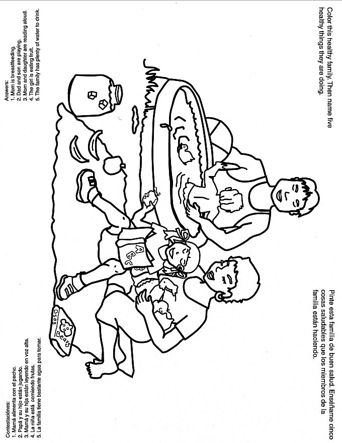 Coloring Picture Of Family Having Picnic