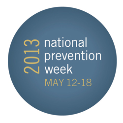 2013 National Prevention Week Button
