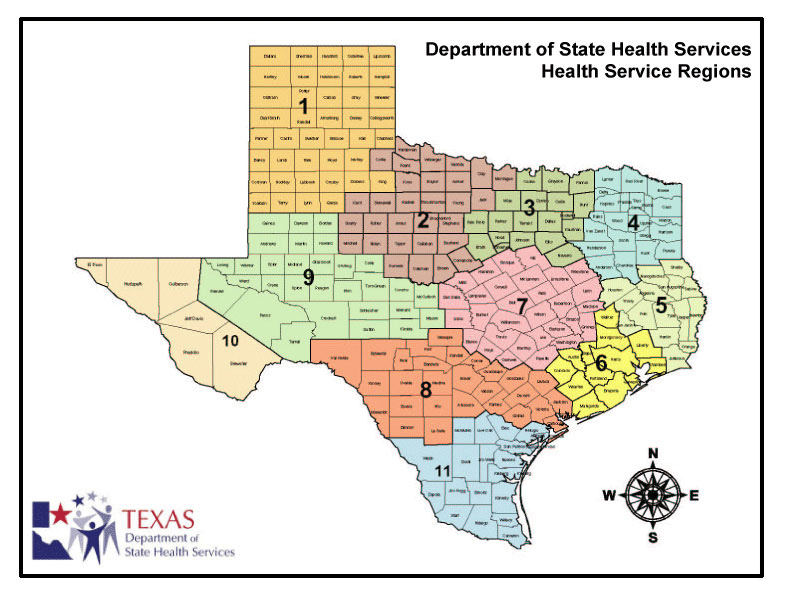 Texas Map With County Lines My Blog - Texas state map by county
