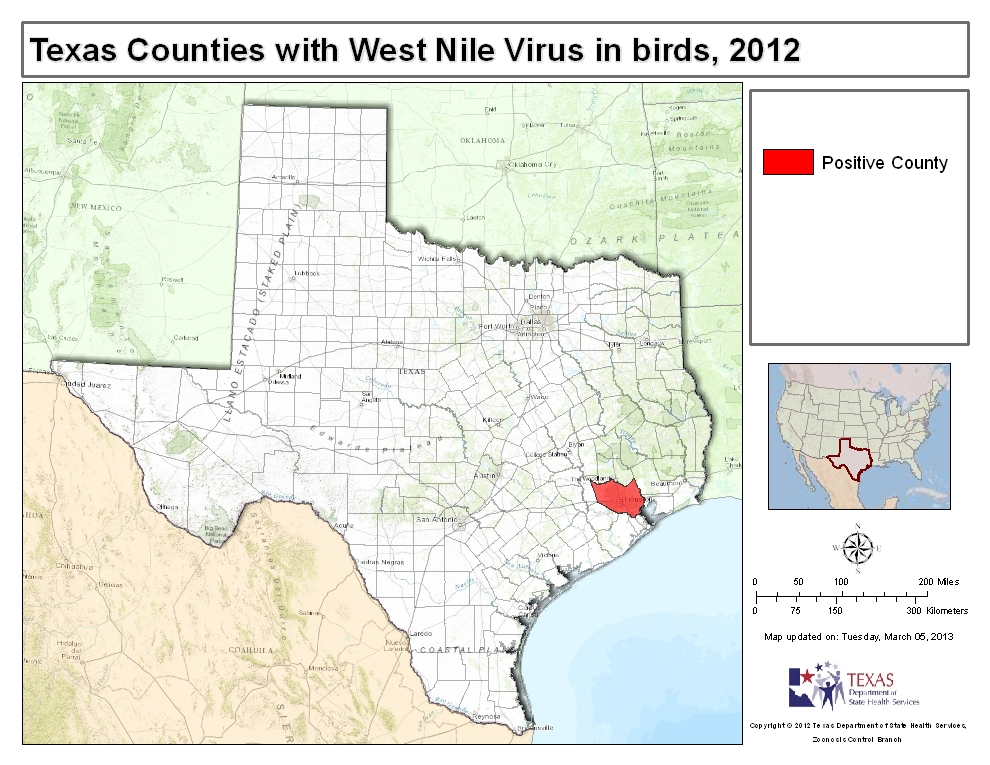 how to detect west nile virus