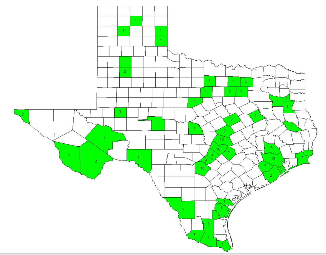 Active Texas Participants Map