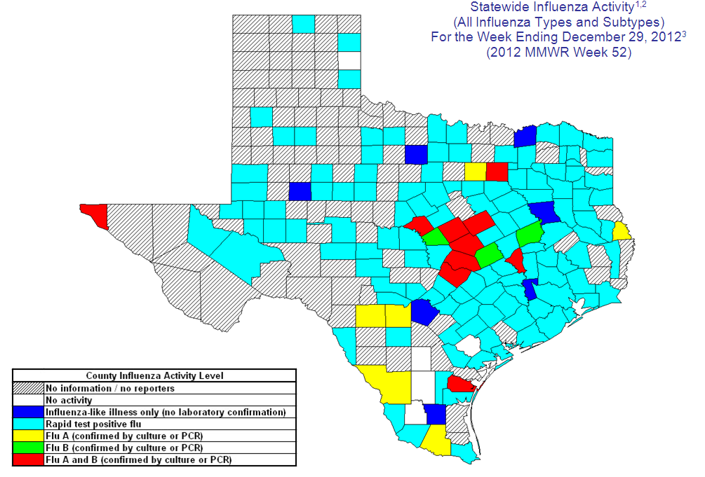 Flu Map Texas