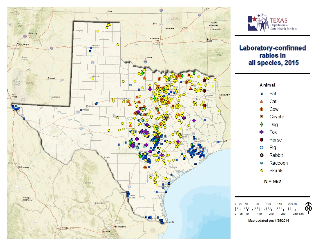 Technology Management Image: Rabies Maps For 2015