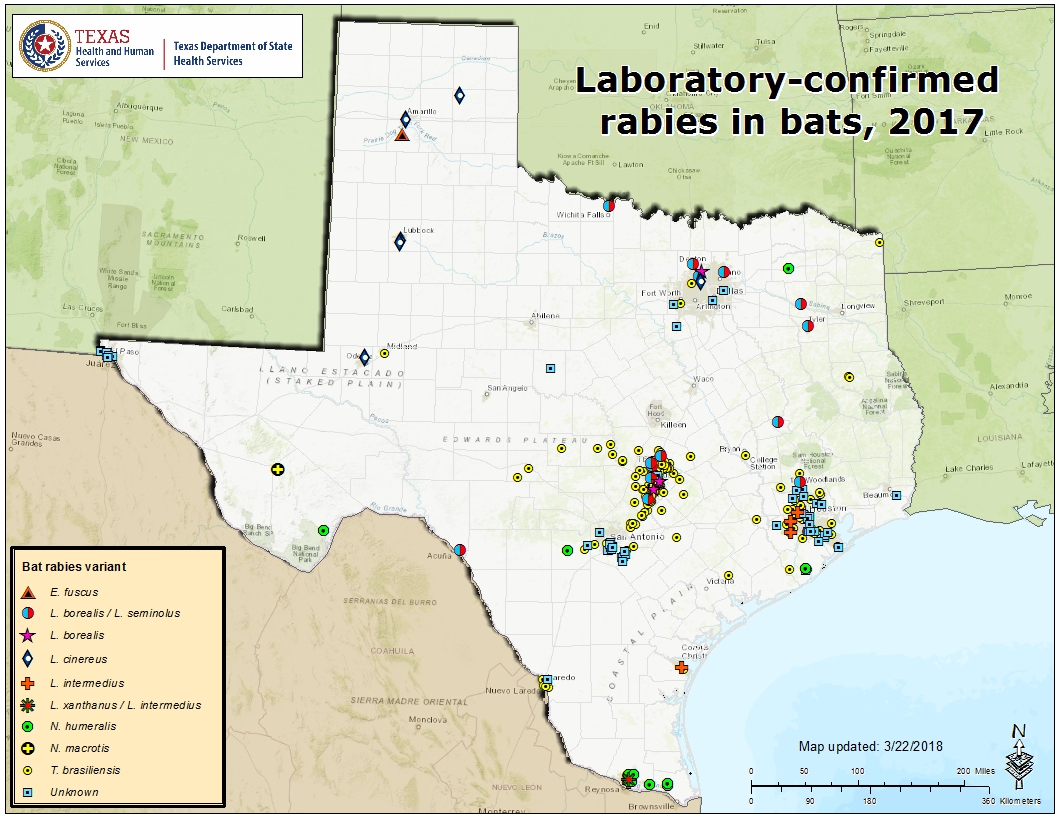 Rabies maps for 2017