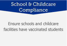 School and Childcare Compliance: Ensure schools and childcare facilities have vaccinated students