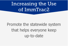 Increasing the Use of ImmTrac2: Promote the statewide system that helps everyone keep up-to-date