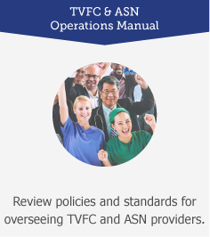 TVFC and ASN Operations Manual: Review policies and standards for overseeing TVFC and ASN providers