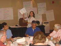 Thumbnail image showing TNSPMP Project Manager giving work materials to team members