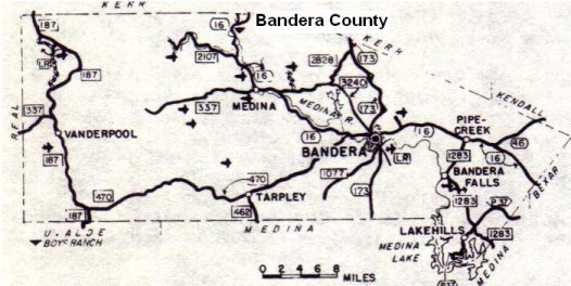 Bandera County Map