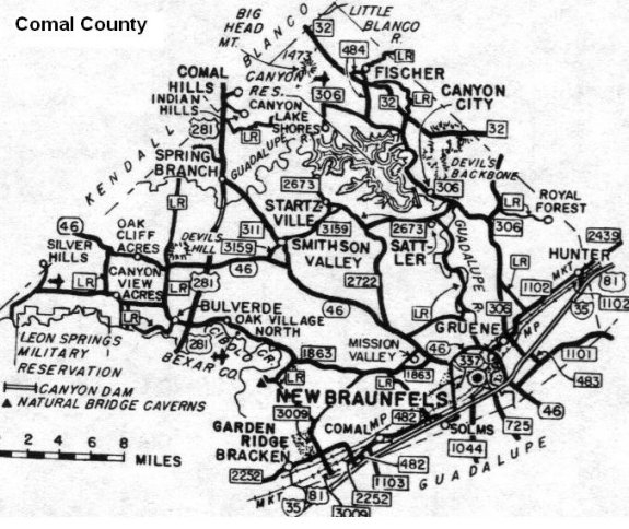 Comal County Map