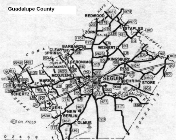 Guadalupe County Map