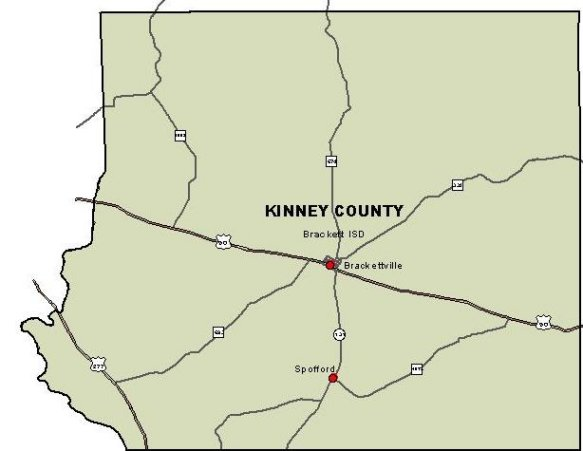 Kinney County Map