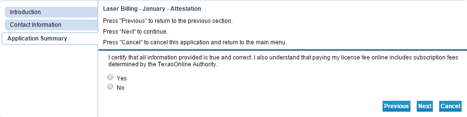 attestation page