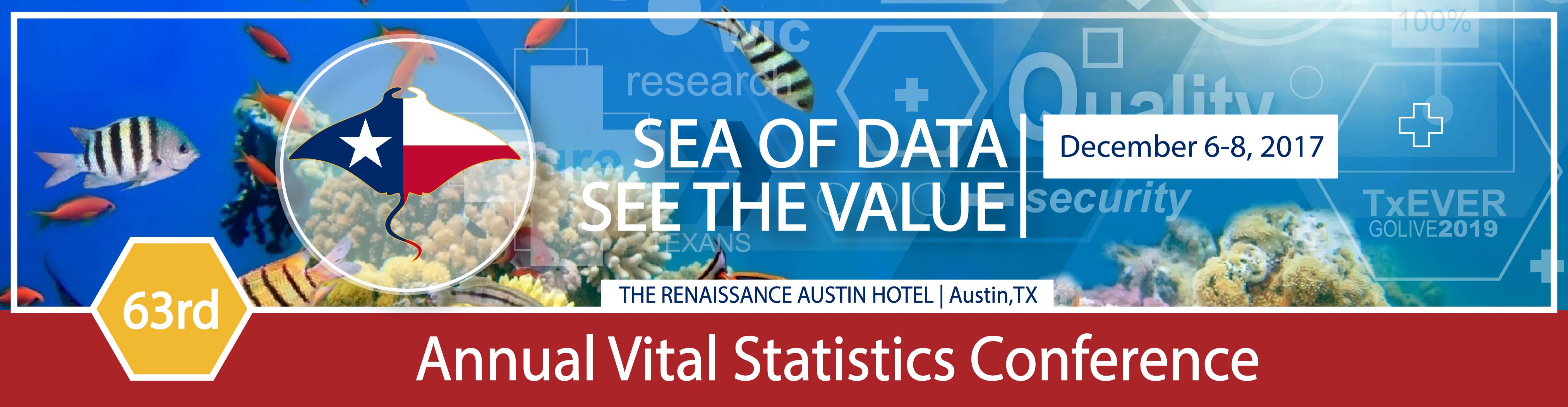 63rd Annual Texas Vital Statistics Conference Banner