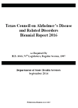 Texas Council on Alzheimer's Disease and Related Disorders 2016 Biennial Report